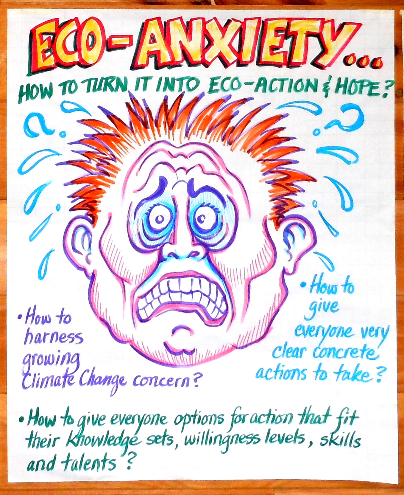 Eco Anxiety    is one of six posters Kevin created for the    HIVE of    Noise Pollution Posters With Slogan