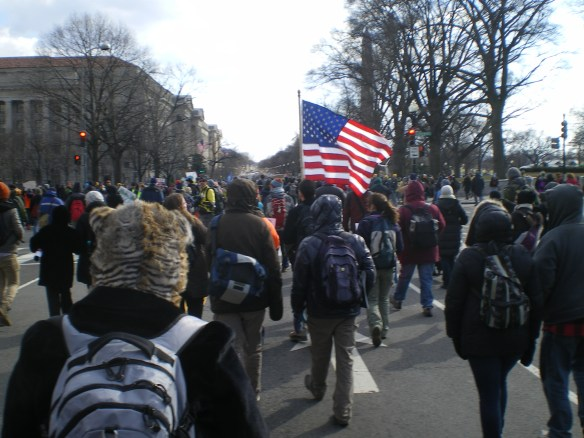"""""""Forward on Climate"""" rally and march in Washington D.C. Feb 17, 2012"""