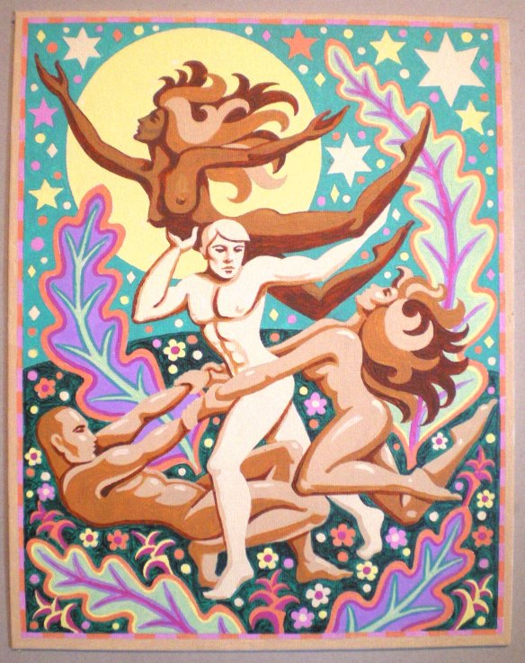 """Celebration of Life,"" 11"" x 14"" acrylic on canvas by Kevin, 2007"