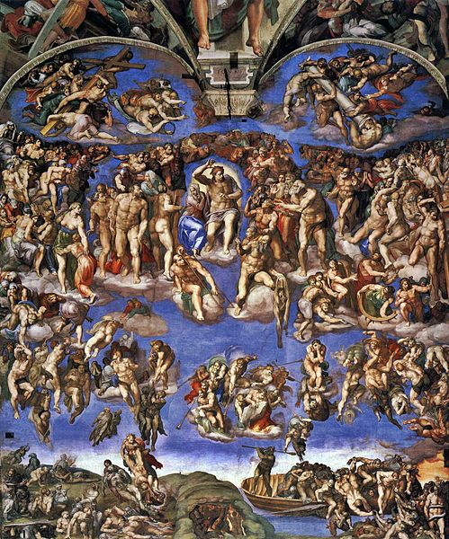 "The nudity in Michelangelo's ""Last Judgment"" so offended the religious authorities of his time that shortly after his death a ""fig leaf campaign"" was carried out to paint modesty drapes  in strategic locations throughout the master's fresco. Half of that damage was recently restored."